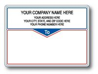 Standard Typewriter Mailing Label Roll w/ Narrow Borders and Center Triangle