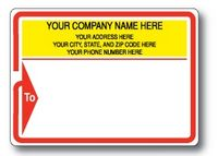 Standard Typewriter Mailing Label Roll w/Red Arrow Border and 'To' Detail