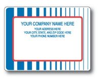Standard Typewriter Mailing Label Roll w/Multi Stripe Background