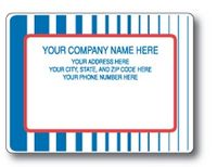 Standard Pin Fed Mailing Label w/Multi Stripe Background