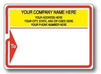 Standard Pin Fed Mailing Label w/Red Arrow Border and 'To' Detail