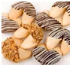Chocolate Romance Hand-Dipped Gourmet Fortune Cookies