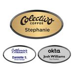 Custom Engraved Oval Name Badge with Frame