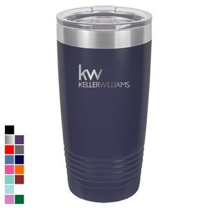 Polar Camel 20 oz. Navy Blue Ringneck Vacuum Insulated Tumbler w/ Lid