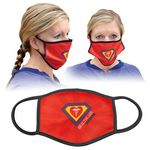 Custom 3-Layer Washable Poly/Cotton Face Mask with Black Trim - 8
