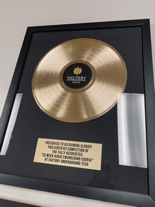 Custom Imprinted Gold and Platinum Record Awards