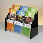 Custom Deluxe 6-pocket Acrylic Brochure Holder - Countertop