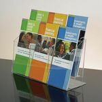 Custom 6-pocket Clear Acrylic Brochure Holder - Countertop