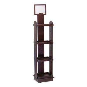Floor 66h Wine Bottle Display - (4) 16h x 15.875w x 11.875d shelves w/ header*
