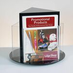 Custom 3-sided Rotating Literature Holder