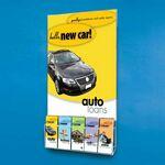 Custom Clear Acrylic Wall Poster Holder w/ 5-pocket Brochure Holder (22w x 28h)