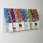 Custom 18 Pocket Clear Acrylic Wall Brochure Holder