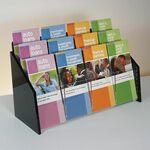 Custom Deluxe 12-pocket Acrylic Brochure Holder - Countertop