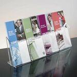 Custom 4-pocket Clear Acrylic Brochure Holder - Countertop
