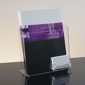 Acrylic Literature Holder w/Business Card Pocket