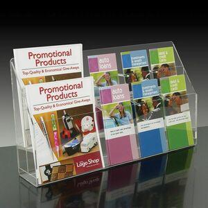 10-pocket Brochure Holder with Adjustable Pockets