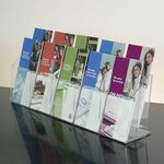 Custom 10-pocket Clear Acrylic Brochure Holder - Countertop
