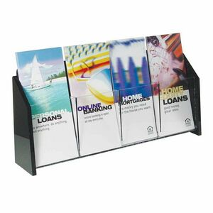 Deluxe 4-pocket Acrylic Brochure Holder - Wall