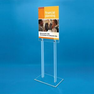 2-sided Acrylic Floor Poster Stand