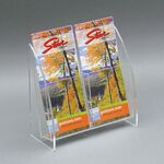 Custom 2-Pocket Modern Acrylic Brochure Holder