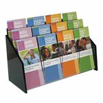 Custom Deluxe 12-pocket Acrylic Brochure Holder - Wall