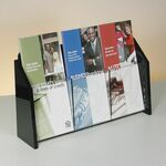 Custom Deluxe 3-pocket Acrylic Brochure Holder - Countertop