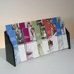 Custom Deluxe 10-pocket Acrylic Brochure Holder - Countertop