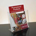 Custom Single Pocket White Acrylic Literature Holder - Countertop