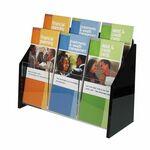 Custom Deluxe 6-pocket Acrylic Brochure Holder - Wall