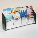 Custom Deluxe 4-pocket Acrylic Brochure Holder - Countertop