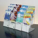 Custom 12-pocket Clear Acrylic Brochure Holder - Countertop
