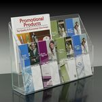 Custom 8-pocket Brochure Holder with Adjustable Pockets