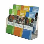 Custom 6-pocket Clear Acrylic Brochure Holder - Wall