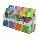 Custom 8-pocket Clear Acrylic Brochure Holder - Wall