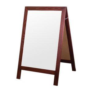 A-frame Wet-Erase Board Sidewalk Sign - Full Frame