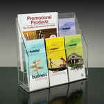 Custom 6-pocket Brochure Holder with Adjustable Pockets
