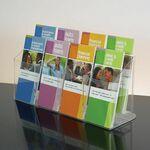 Custom 8-pocket Clear Acrylic Brochure Holder - Countertop