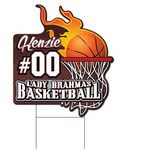 Custom Coro Sport Fireball Basketball Sign