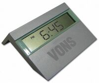 Metal Digital Clock w/ Date & Temperature