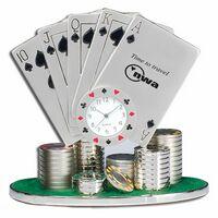 Miniature Poker Cards Replica Casino Clock