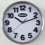 Custom Stainless Steel Deluxe White Dial Wall Clock (10