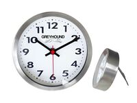 "Stainless Steel Metal Wall & Desk Clock w/ Support (6"")"