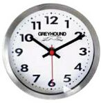 Stainless Steel Metal Wall & Desk Clock w/ Support (6