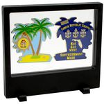 Custom Large Rectangle Clear Floating Display frame with base