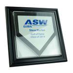 Custom Mini Homeplate Display Case w/ Wooden Frame