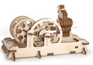 Wooden Mechanical 3D Engine Model
