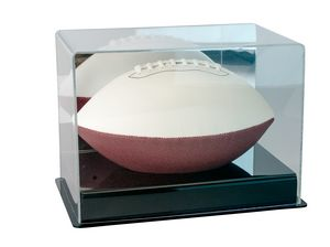 Executive Display Case for Full Size Football w/ Black Base