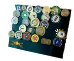 Custom Challenge Coin Rack for 30 coins