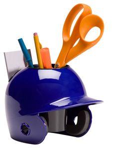 Blank Mini Baseball Helmet Desk Caddy