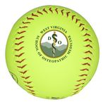 Full Color Printed Yellow Synthetic Softball imported